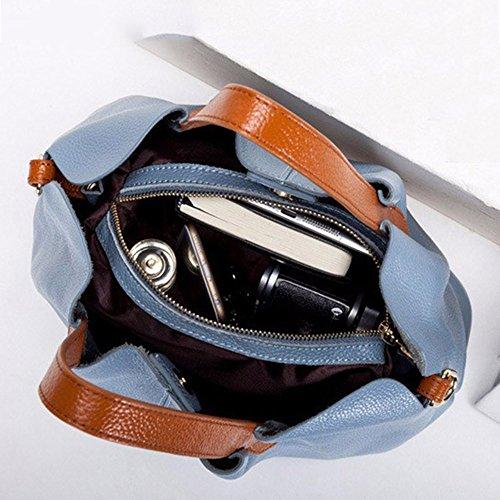 Bags Shoulder Leather Blue Leather Bag Women's Rosso Bag Shoulder Bag Hq4w5E