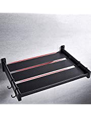 ZYL-YL Microwave Shelf Household Microwave Oven Rack Wall-Mounted Oven Stand Kitchen Storage Rack Space Aluminum Black for Kitchen Bathroom (Color : Black, Size : One Size)
