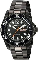 Akribos XXIV Men's Black Case with Black Dial on Black Stainless Steel Bracelet Watch AK947BK