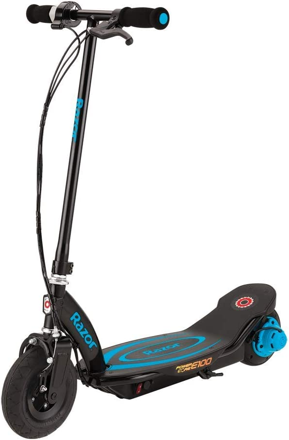 Razor Power Core E100 Electric Scooter, Blue: Amazon.co.uk: Sports & Outdoors