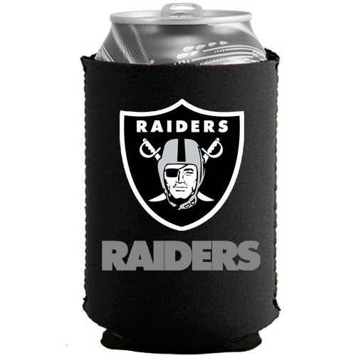 Oakland Raiders Black Collapsible Can Coolie by Football Fanatics
