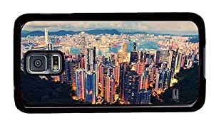 Hipster rugged Samsung Galaxy S5 Cases hong kong view PC Black for Samsung S5 by lolosakes