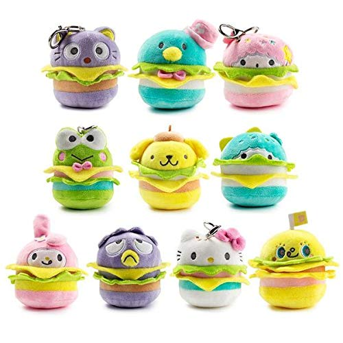 90fd37528 Image Unavailable. Image not available for. Color: Kidrobot Hello Sanrio  Plush Burger Charms Blind Box ...