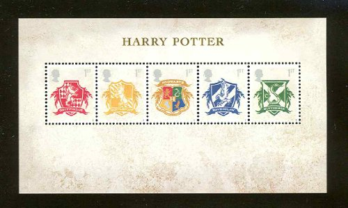 Harry Potter – Hogwarts Crests Postage Stamps