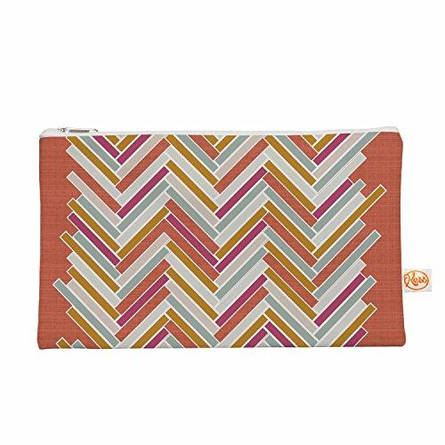 Kess eigene 12,5x 21,6cm pellerina Design Herringbone Weave Bold Alles Tasche–Orange