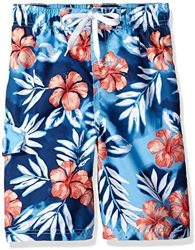 Kanu Surf Big Boys' Reflection Quick Dry Beach Swim Trunk Vacay Blue Small (8) [並行輸入品]