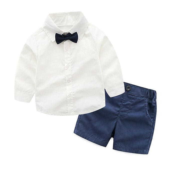 Amazon.com: highdream bebés niños Caballero pajarita Camisa ...