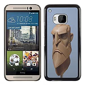 Plastic Shell Protective Case Cover || HTC One M9 || Blue Beard Viking Cgi Computer @XPTECH