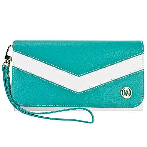 caseen ViVi Women's Smartphone Wallet Clutch Wristlet Cas...