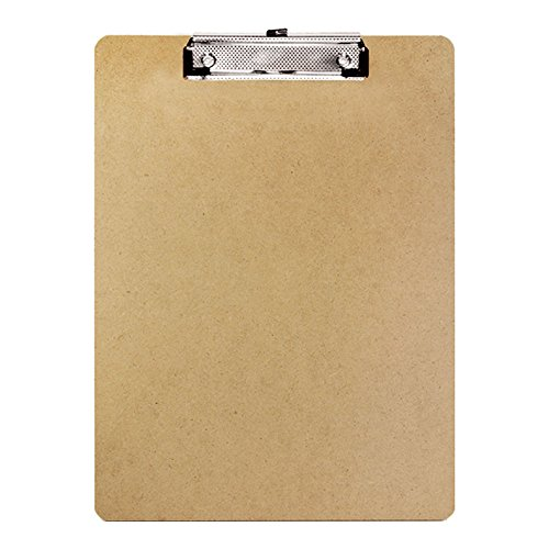 BAZIC Standard Size Hardboard Clipboard w/ Low Profile Clip (Case of 24)