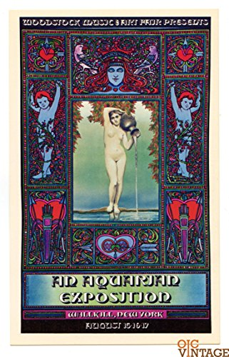 WOODSTOCK Handbill 1969 An Aquarian Exposition David Edward Byrd