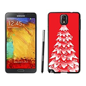 Hot Sell Design Snow Red Christmas Tree Samsung Galaxy Note 3,Samsung N9005 Black TPU Cover Case by lolosakes