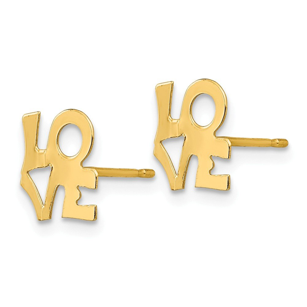 14k Yellow Gold Madi K LOVE Post Earring