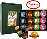 12 Single-Serve Kona-One-Cups of Pure Kona and Kona Hawaiian Coffee, Variety Pack of Our Exclusive Kona-One-Cups for Keurig K-cup Brewing Systems