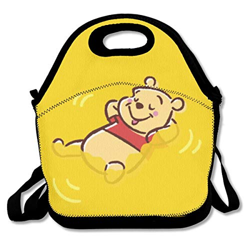 (Meirdre Lunch Box Winnie The Pooh Insulated Personalized Tote Lunch Food Bag)
