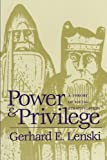img - for Power and Privilege: A Theory of Social Stratification book / textbook / text book