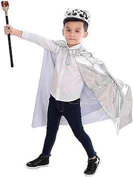 Guiran Disfraz para Niños Niñas Príncipe Princesa Capa Cosplay ...