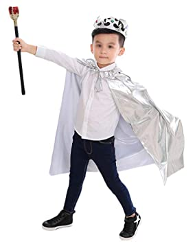 Guiran Disfraz para Niños Niñas Príncipe Princesa Capa ...