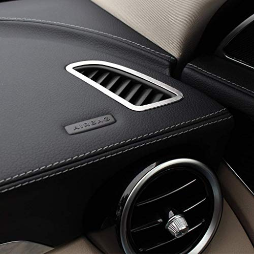 AUTO Pro for Mercedes Benz C Class W205 C200 GLC260 300 2015 2016 2017?Alumium Alloy Car Dashboard Air Conditioning Vent Outlet Frame Cover Trim Silver