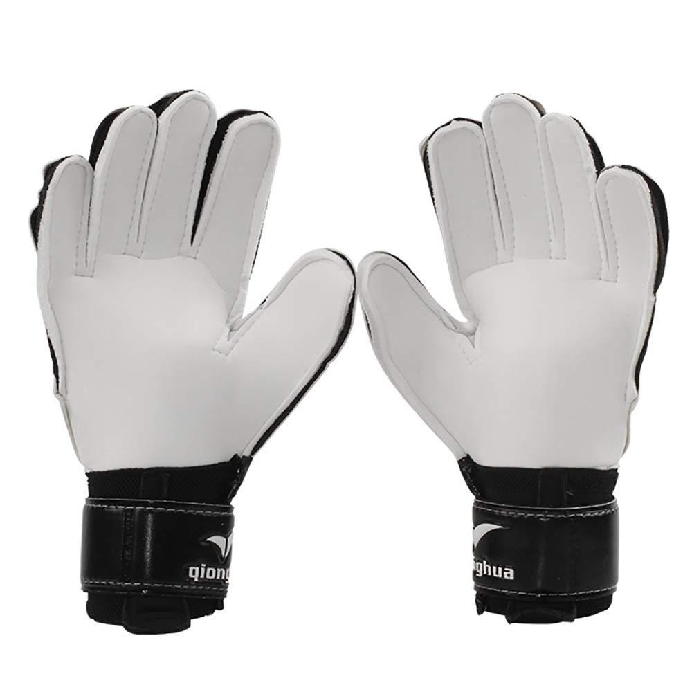 Yangyme Sport Gloves Guantes de Portero de f/útbol para Adultos j/óvenes con Espinas de Dedos L/átex Size : L Agarre Fuerte protecci/ón Antideslizante Blanco con Negro