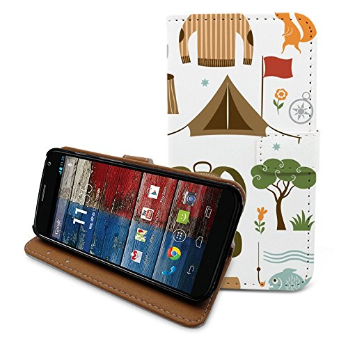 HelloGiftify Holiday Mood Travel flip Leather case with Card Slot for Moto X (1st gen) (Moto X 1st Gen Case Flip)