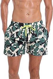 QRANSS Surf Men's Quick Dry Swim Trunks Bathing Suit Beach Sh