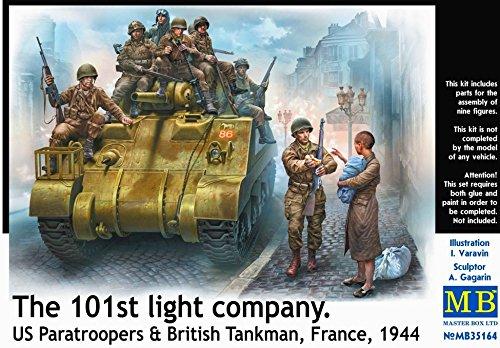 (Master Box Ltd. MB35164-Figurines 101th Light Company, US Paratroopers and British Tankmen )