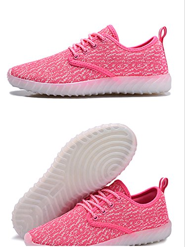 Sneakers Pink for Glowing Women Kids Charging Flashing Light and Shoes Luminous Led USB Up UNN Men w6fS4S