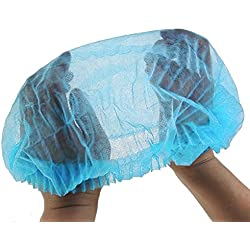 SETH - 100 Pcs-21 Inches , Disposable Bouffant (Hair Net) Caps, Spun-bounded Poly, Hair Head Cover Net, Non-woven, Medical, Labs, Nurse, Tattoo, Food Service, Health, Hospital (100, 21 Inches)