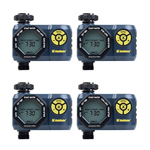 Melnor Digital 1 Zone Programmable Water Timer & Controller for Garden (4 Pack)