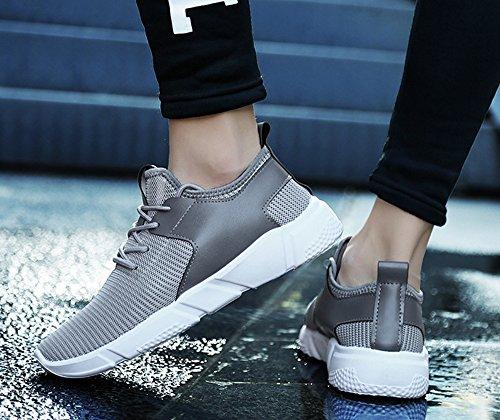 Mode Herren Straps Sport Laufschuhe Casual Turnschuhe Solid Schuhe Grau