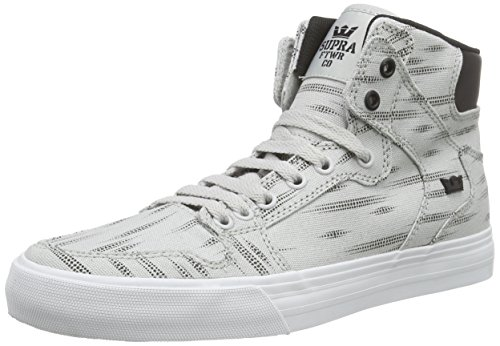 Lgp Grey Black Light Print Supra Hautes D Sneakers Wht Vaider Mixte Adulte Gris Wz70pv8
