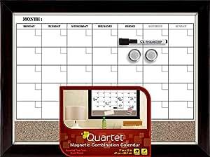 "Quartet Dry Erase Board / Cork Board, Magnetic, 17"" x 23"", Two-Tone Frame (22476)"