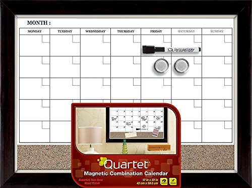 quartet-magnetic-combination-calendar-board-dry-erase-and-cork-17-x-23-inches-two-tone-frame-22476