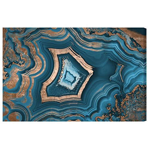 Dreaming About You Geode' Contemporary Canvas Wall Art Print for Home Decor and Office. The Abstract Wall Decor Collection by The Oliver Gal Artist Co. Gallery Wrapped and Ready to Hang. 30x20 inch by The Oliver Gal Artist Co.