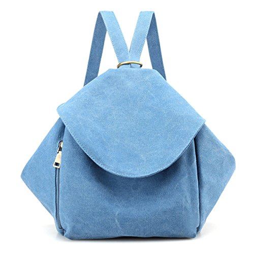 Bags Leisure Fashion Retro Lady Blue2 Backpack Canvas Elegant Multipurpose Sgqppx