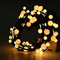 Litake 6.59Ft LED String Lights, Hanging Indoor/Outdoor Christmas Decorative Lights for Patio,Room,Xmas Party,Backyard,Cafe,Party,Bedroom (Warm White)