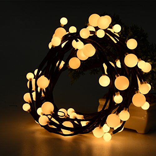 Litake 6.59Ft LED String Lights, Hanging Indoor/Outdoor Christmas Decorative Lights for Patio,Room,Xmas Party,Backyard,Cafe,Party,Bedroom (Warm (Grape Design Table Lamp)