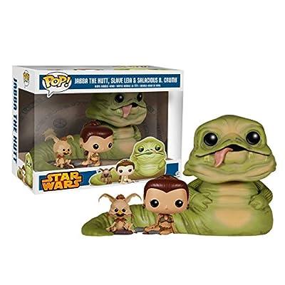 "Funko POP! Exclusive Star Wars 6"" Jabba the Hutt with Slave Leia & Salacious B. Crumb"