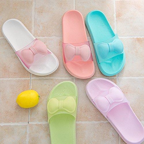 Verano baño Piso D Cool Pareja Dedos Zapatillas YMFIE de Antideslizante baño Zapatillas casa qzCxc7