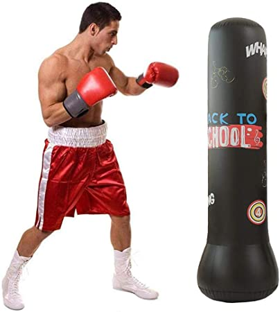Kids Punching Bag Freestanding Punching Bag Ideal for Stress Relief Inflatable Boxing Tumbler Enhance Physical Fitness Dummy Suitable for Adults and Children