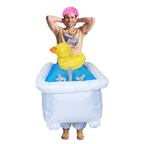 Amazon.com: Disfraz inflable de pato para Halloween, para ...