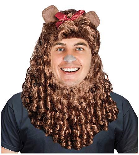 Brown Lion Wig Human Lion Costume Wig Lion Mane Wig Costume Simba Costume Wig