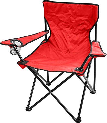Campingstuhl Faltstuhl Klappstuhl Anglerstuhl Getränkehalter Stuhl Gartenstuhl für den Sommer Farbe Rot