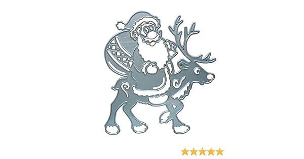 Bonita plantilla de repujado con diseño navideño de Papá Noel: Amazon.es: Hogar