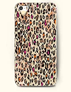 Phone Case For iPhone 5 5S Colorful Cheetah Print - Hard Back Plastic Case / Animal Print / OOFIT Authentic