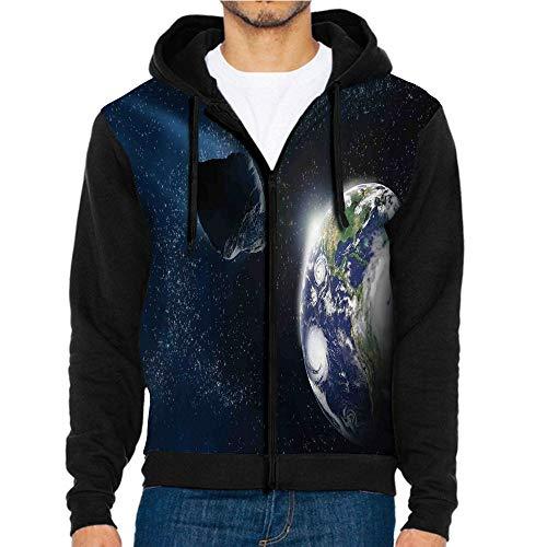 - 3D Printed Hoodie Sweatshirts,Comet on Planet Earth,Hoodie Casual Pocket Sweatshirt