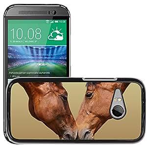 Print Motif Coque de protection Case Cover // V00001683 amor del caballo // HTC One Mini 2 / M8 MINI / (Not Fits M8)