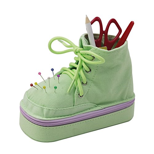 D&D Cute Sewing Kit for Kids, Shoe Shaped, Green
