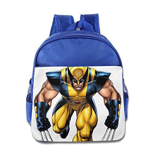 Wolverine Costume Boots (James Howlett Wolverine Little Kids School Backpack Bag RoyalBlue)